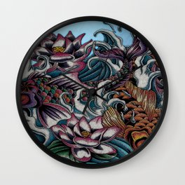 Dancing Koi Wall Clock