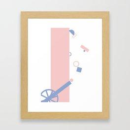 Popping Shapes 2 Framed Art Print