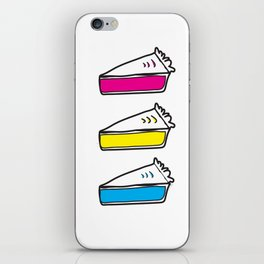 3 Pies - CMYK/White iPhone Skin