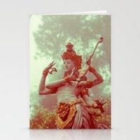 goddess Stationery Cards featuring Goddess by Farkas B. Szabina