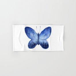 Blue Galaxy Butterfly Hand & Bath Towel