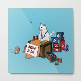 Bean's Soda Metal Print