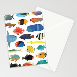 Tropical Fish chart Stationery Cards