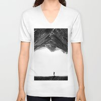 lost V-neck T-shirts featuring Lost in isolation by Stoian Hitrov - Sto