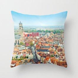 Brugge, Belgium Throw Pillow