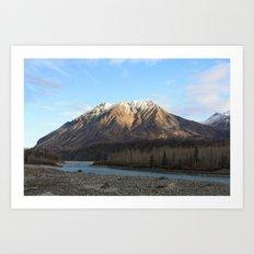Blue Creek, Alaska Art Print