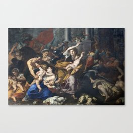 Milan - paint of Massacre of the Innocents from San Eustorgio church Canvas Print