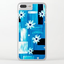 Abstract Daisies Clear iPhone Case