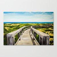boardwalk empire Canvas Prints featuring Boardwalk by Minx Paints