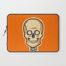 Spooky Vintage Halloween Skeleton Skull Laptop Sleeve