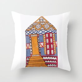 Funky NOLA Shotgun Print Throw Pillow