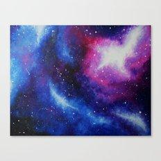 Galaxy Art Print from an original acrylic Painting Purple, Blue, Pink Canvas Print