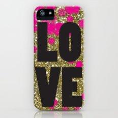 Love in Glitter Slim Case iPhone (5, 5s)