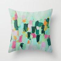 jenna kutcher Throw Pillows featuring Arietta by Ann Marie Coolick