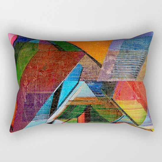 Verticalis Collapse Rectangular Pillow