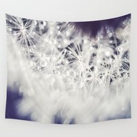 dandelion Wall Tapestries featuring Dandelion  by Juste Pixx Photography