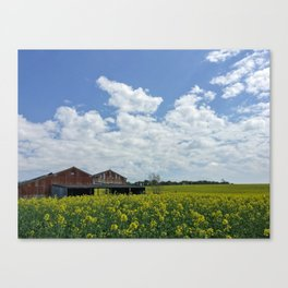 Abandoned Barn in the English Countryside Canvas Print