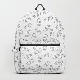 Milk Bottle Toss in Black + White Backpack