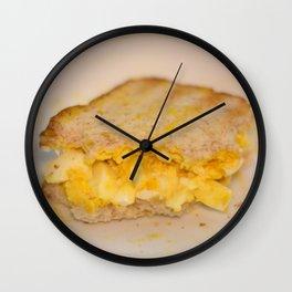 Egg salad with Oatmeal Toast Wall Clock