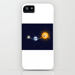 The Sun, the Moon and the Earth Family iPhone Case