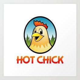 Hot Chick Cartoon Character Art Print