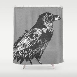 Raven Grey Shower Curtain