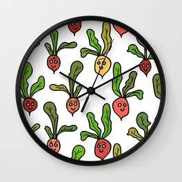Cute and Colorful Radish Pattern Wall Clock