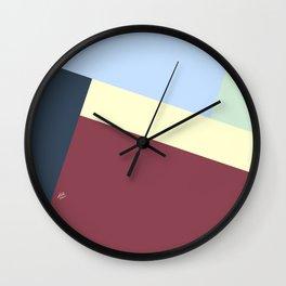 Pastel Color Patchwork #abstractart #abstract #modern #kirovair #graphic #design #fallcolors Wall Clock