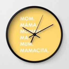 MOM yellow Wall Clock
