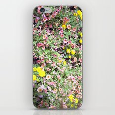 pink and yellow flowers iPhone & iPod Skin