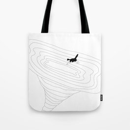 Cat jump in the tornado Tote Bag