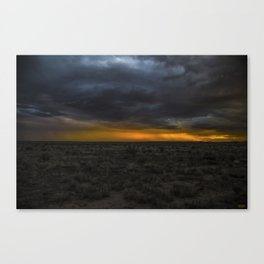 A Lotta Holes In That Desert.... Canvas Print
