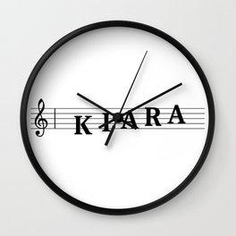 Name Kiara Wall Clock