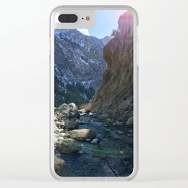 Wasatch Waterfall Clear iPhone Case