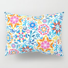Watercolor Kaleidoscope Floral - brights Pillow Sham