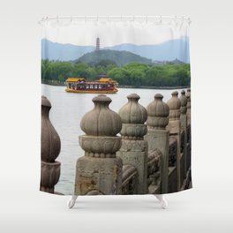 Dragon Boat to the Summer Palace Shower Curtain