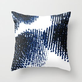 Blue and Black Throw Pillow