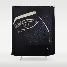Colorful freckles Shower Curtain