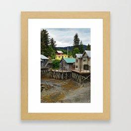 Tides Out - Seldovia, Alaska Framed Art Print