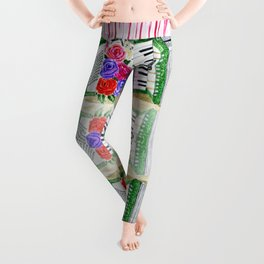 Accordion with roses Leggings