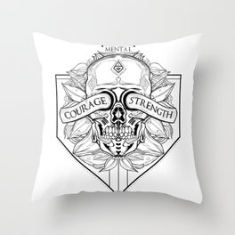 Courage Is What You Need Throw Pillow