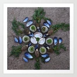 Nature Mandala: April Art Print