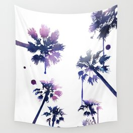 Sunset Palm Trees Wall Tapestry
