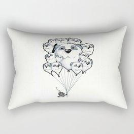 Panda Balloons Rectangular Pillow