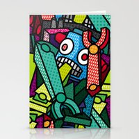 artsy Stationery Cards featuring Artsy Bot by Brandon Ortwein