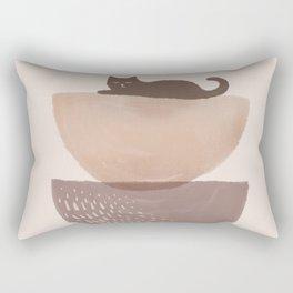 Hidden cat 7 abstract Pot balance  Rectangular Pillow