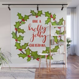 Holly Jolly Christmas Wall Mural