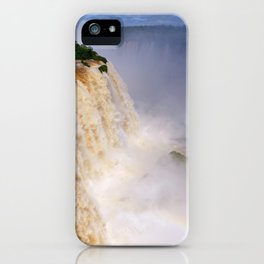 Aerial view of a majestic and powerful waterfall iPhone Case