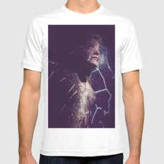 Universe Flows In Me. MEDIUM Mens Fitted Tee White