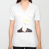 buffy the vampire slayer V-neck T-shirts featuring Spike - Buffy the vampire slayer by Rebecca McGoran
